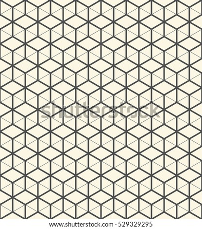 3d Seamless Cube Pattern Abstract Decorative Stock Vector 529329295