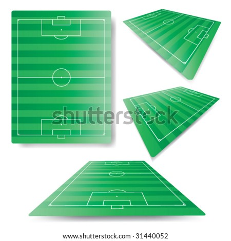 3d soccer field in true proportions