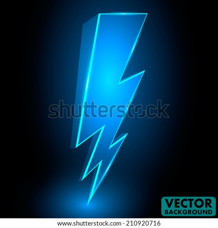 how to draw a 3d lightning bolt