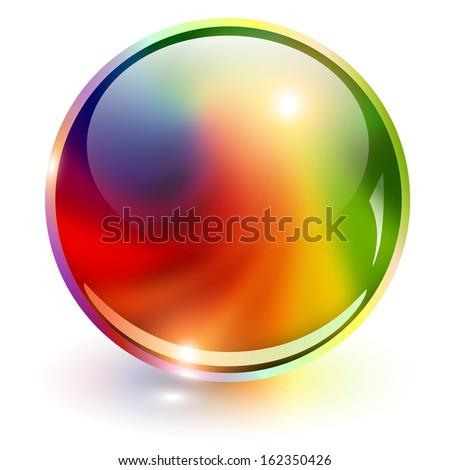 3D sphere rainbow colors, vector illustration. - stock vector