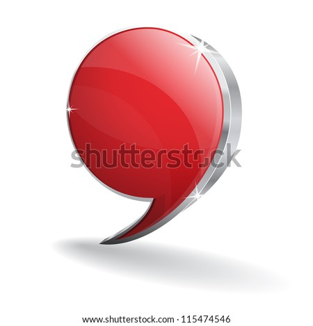 3d Talk Balloon Vector Icon