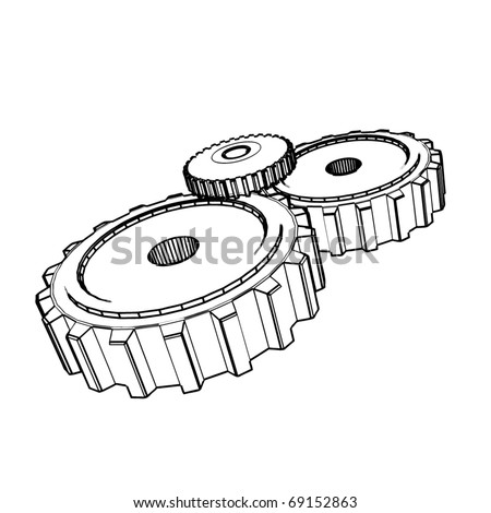 4 likewise 2009 02 01 archive as well Gears Drawing furthermore Royalty Free Stock Photography Bicycle Cogs Image22080417 together with Royalty Free Stock Photo Mine Vector Drawing Stylized As Engraving Exterior Image36540035. on 2d gear drawing