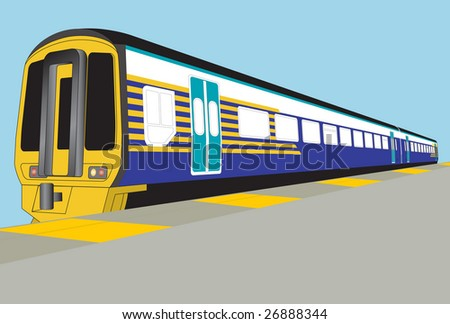 3d train for adding livery - stock vector