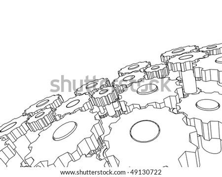 3D transmission - stock vector