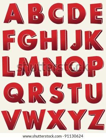 Graffiti alphabet vector colorful style funny vector graffiti alphabet