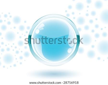 3d vector blue sphere - stock vector