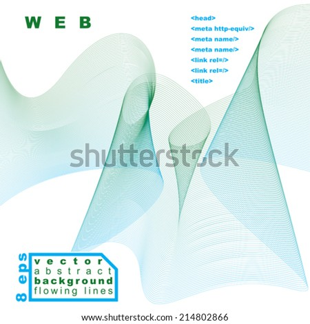 3d vector decorative background with curved transparent dynamic ribbon. Wonderful aerial textile composition. - stock vector
