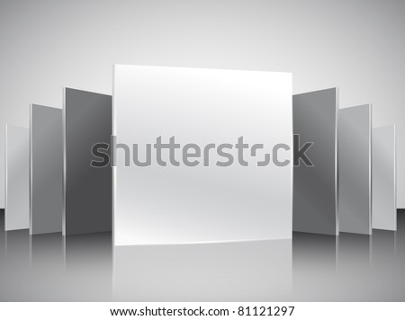 3D vector gallery - stock vector