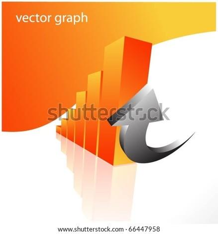 3d vector graph background - stock vector