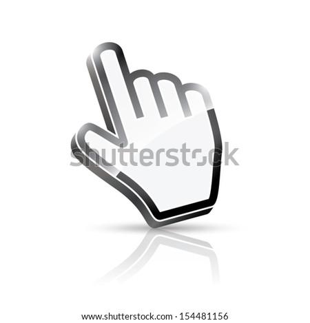 3d vector hand cursor - stock vector