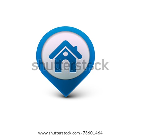 3d vector home icon design with isolated on black. - stock vector