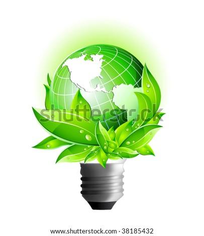 3D Vector Icons: Environmental Eco Earth Globe - stock vector