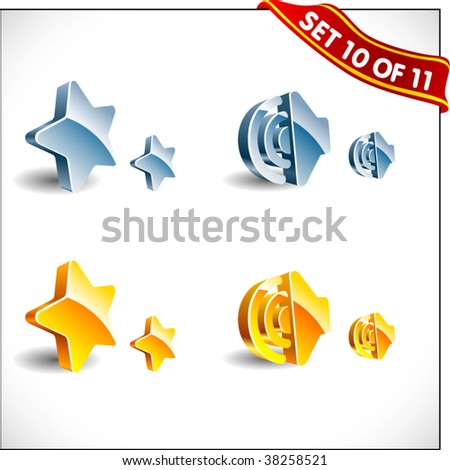 3D vector icons. Set 10 of 11! - stock vector