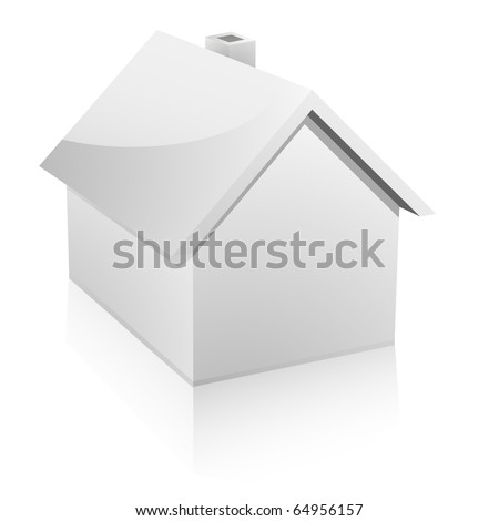 3d vector illustration of a small house - stock vector