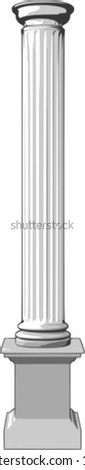 3d vector illustration of a white column - stock vector