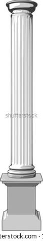3d vector illustration of a white column - stock vector