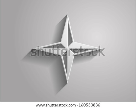3d Vector illustration of compass icon