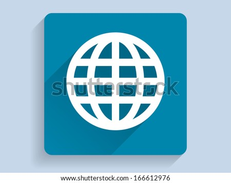 3d Vector illustration of globe icon  - stock vector
