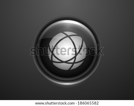 3d Vector illustration of globe icon