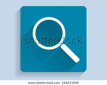 3d Vector illustration of loupe icon - stock vector