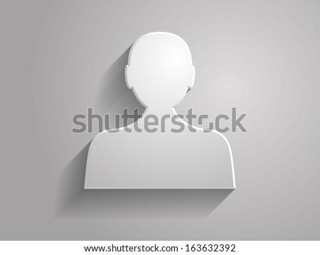 3d Vector illustration of  man icon  - stock vector