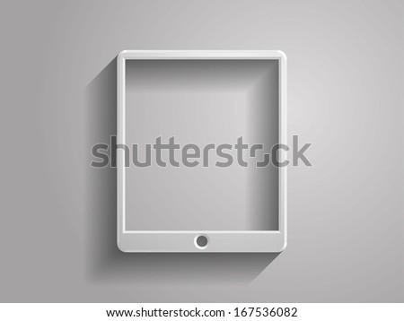 3d Vector illustration of touchpad icon - stock vector
