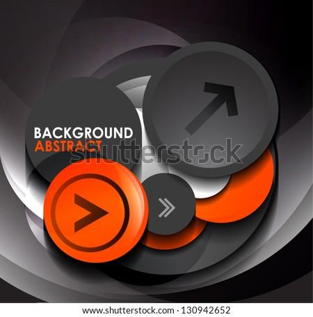 3d vector modern geometric circles design template - stock vector