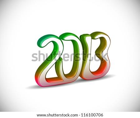 3d vector new year 2013 design.