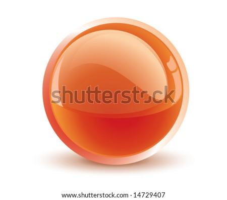 3d vector orange sphere - stock vector