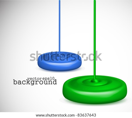 3d vector paint dripping design. - stock vector