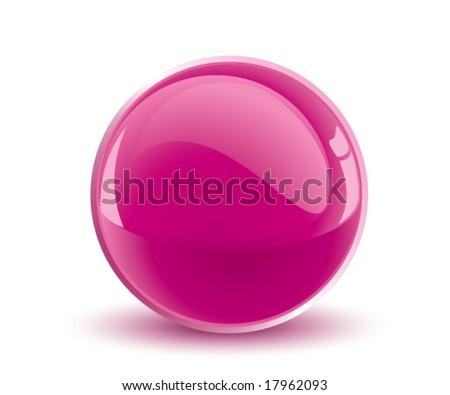 3d vector purple sphere - stock vector