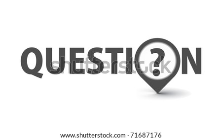 3d vector question marks icon design with isolated on white. - stock vector