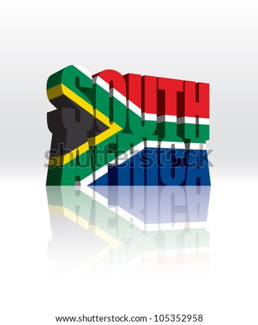 south africa flag display lettering sb8247 sparklebox 3d vector south africa word text stock vector 105352958 381