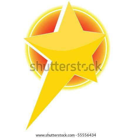 3d vector star icon - stock vector