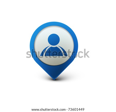 3d vector user web icon design element. - stock vector