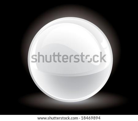 3d vector white sphere - stock vector
