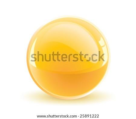 3d vector yellow sphere - stock vector