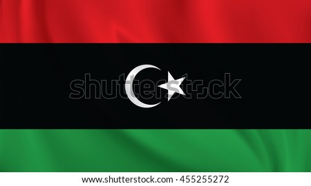 3D Waving Flag of Libya