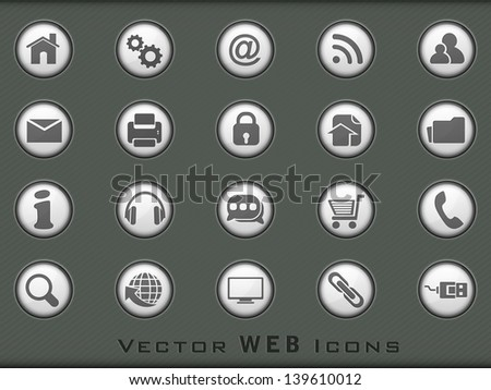 3D web 2.0 mail icons set for websites, web applications. email applications or server Icons. - stock vector