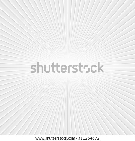 3D White Rays. Abstract Vector Background - stock vector