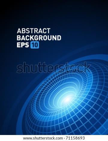 3d wire torus vector background - stock vector