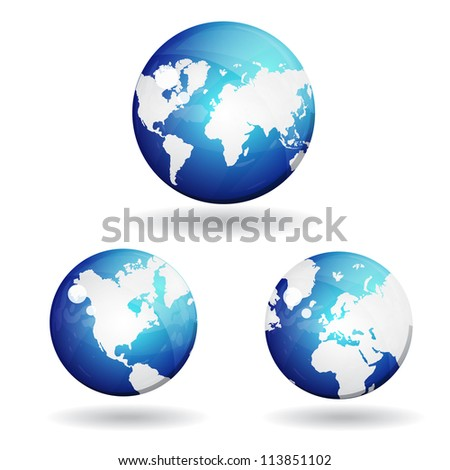 3d World Map Vector Icon