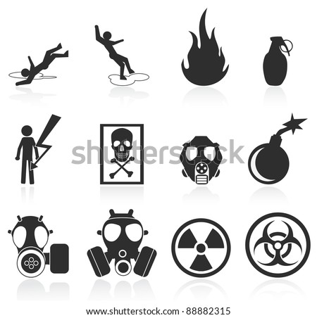 danger icons,easy to edit and re size - stock vector
