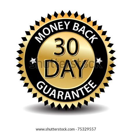 30 day money back-vector - stock vector