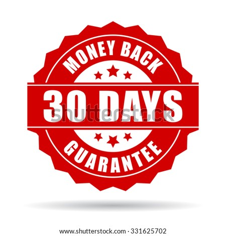 30 days money back guarantee icon isolated on transparent background - stock vector