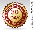30 days money back guarantee label, vector EPS 8 - stock vector