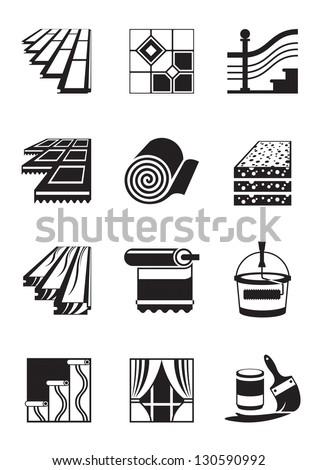 Decoration materials for interior - vector illustration - stock vector