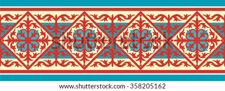 decorative ornament pattern with vintage byzantine style elements