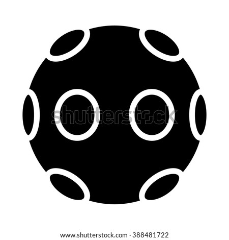 360 degree virtual reality video camera flat icon for apps and websites - stock vector