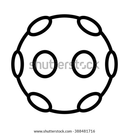 360 degree virtual reality video camera line art icon for apps and websites - stock vector